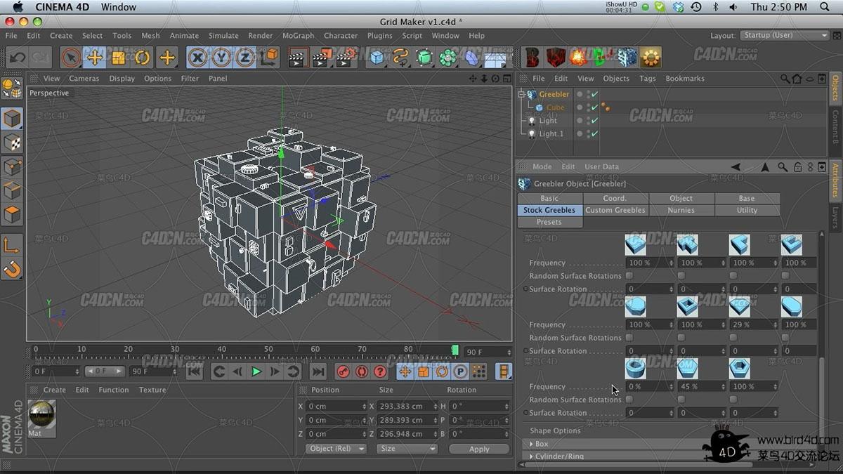 C4D插件 Greebler建筑插件xx版附带教程
