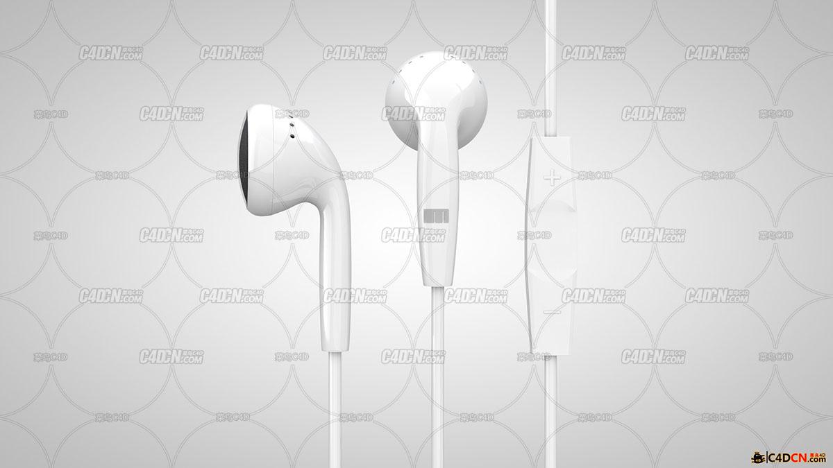 [C4D R15 标准渲染器]魅族EP-21HD耳机工程