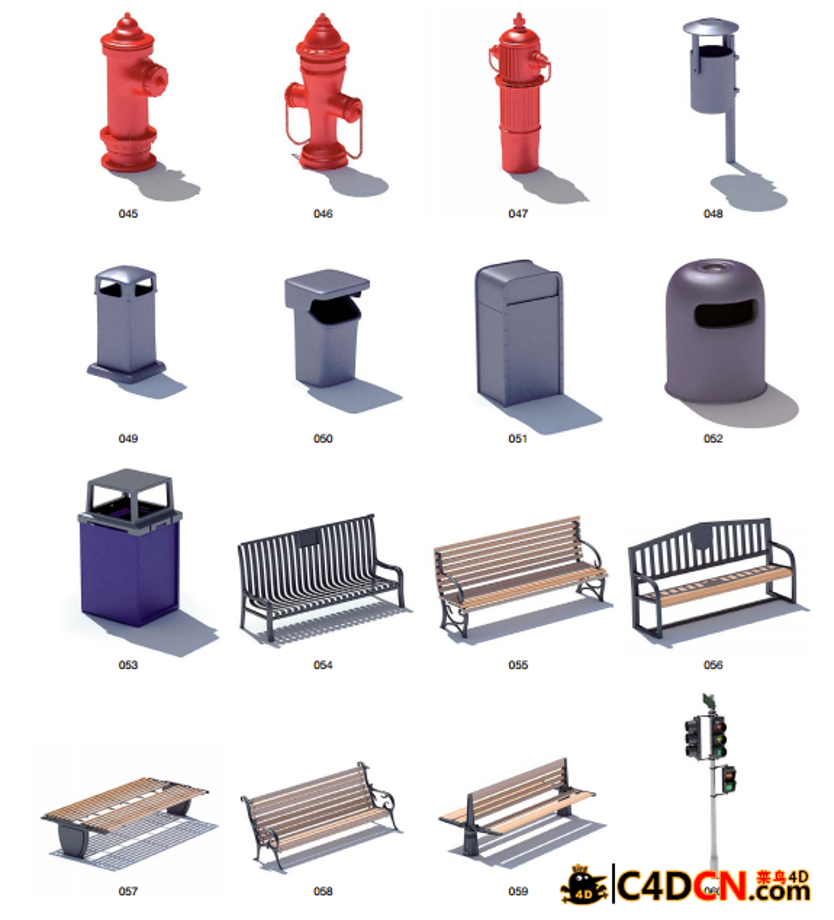 VOL.13(max)公共设施:消防+路灯+路牌+水泵+路障+电话亭模型合集