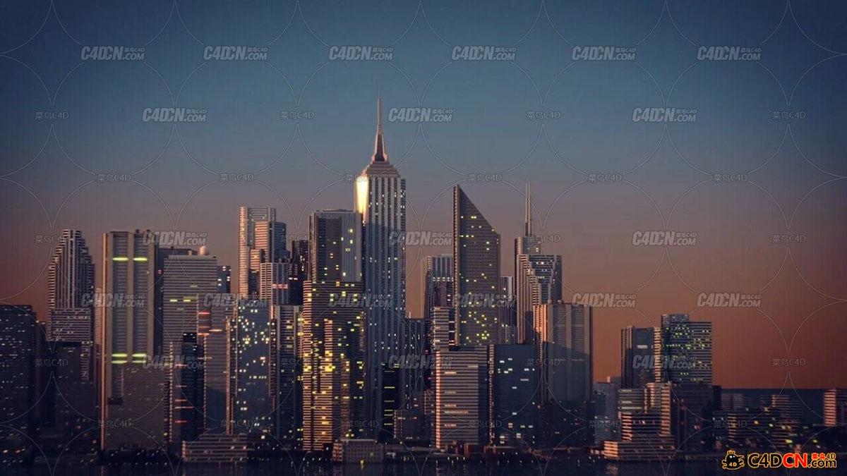 C4D预设 GSG City Kit 1.2灰猩猩城市群脚本预设汉化版