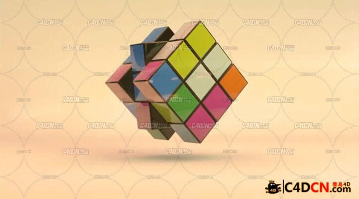 C4D预设 可控魔方脚本预设汉化版含教程Rubik's Cube