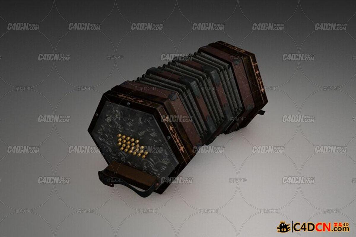 六角手风琴模型