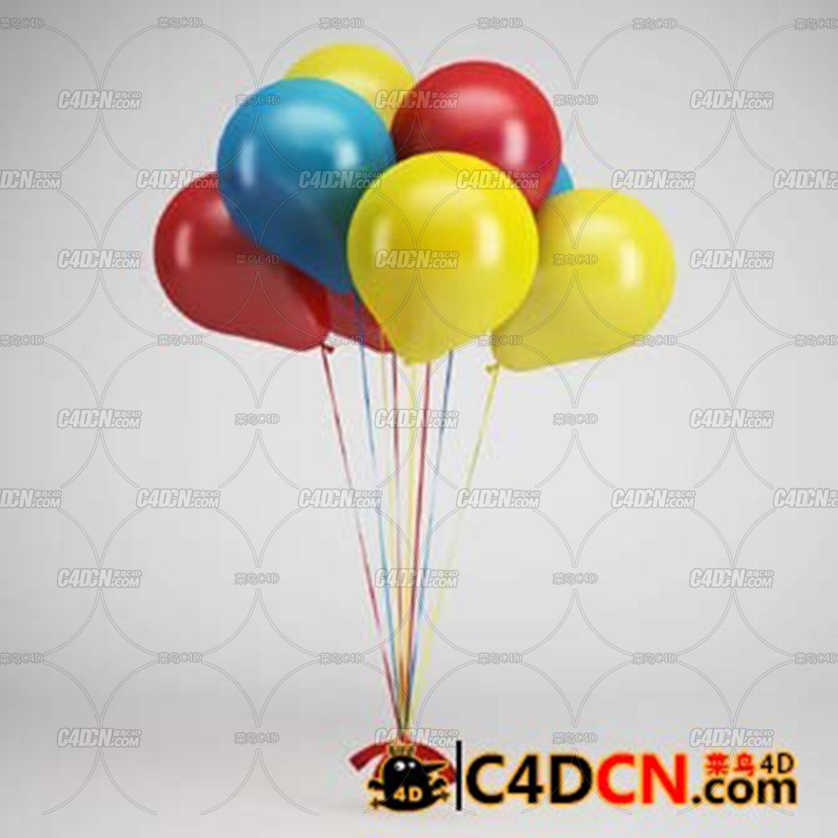 多颜色气球模型