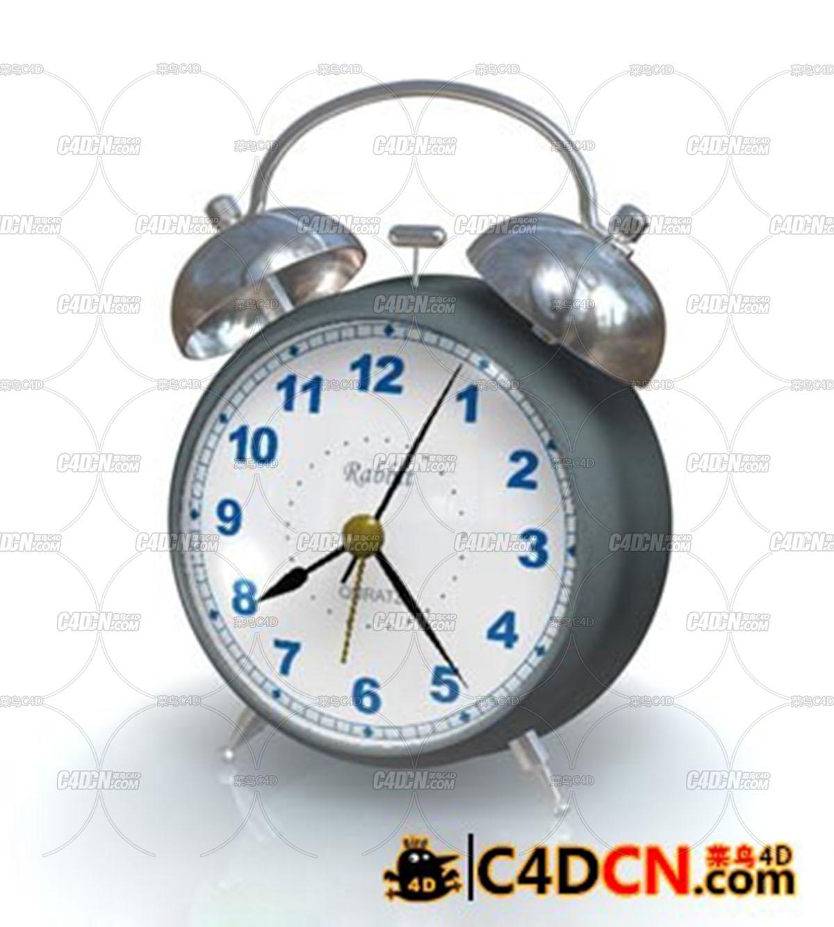 C4D闹钟模型