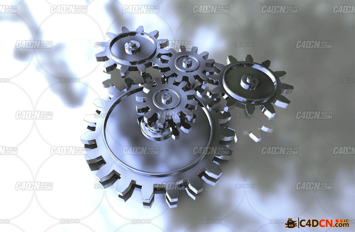 一组齿轮模型