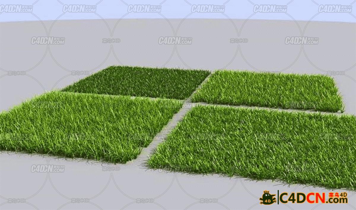 C4D grass草坪模型