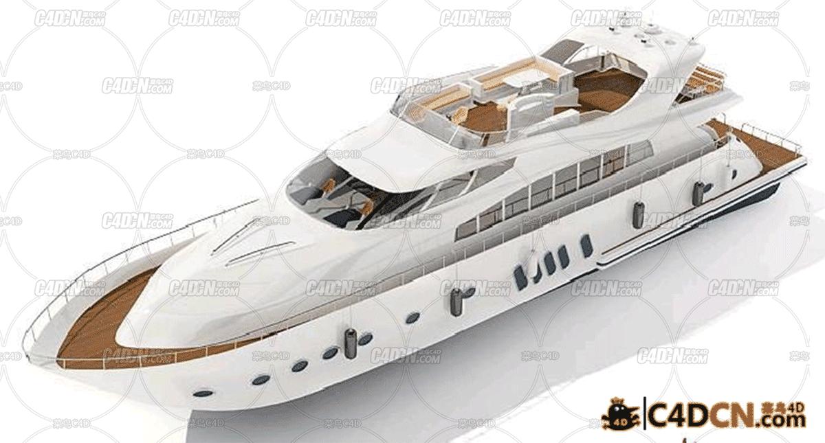 白色游艇模型White yacht model