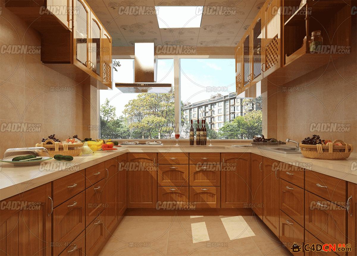 53组厨房套装模型Kitchens
