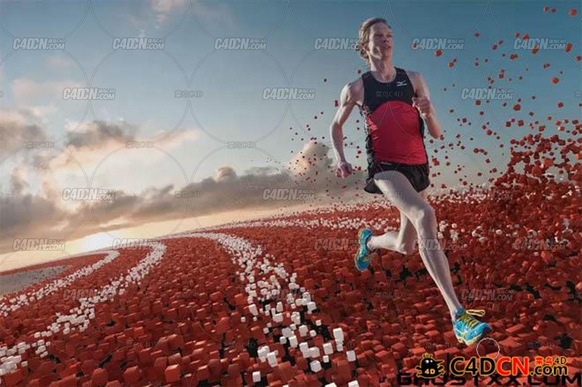 C4D奔跑者运动产品广告制作教程