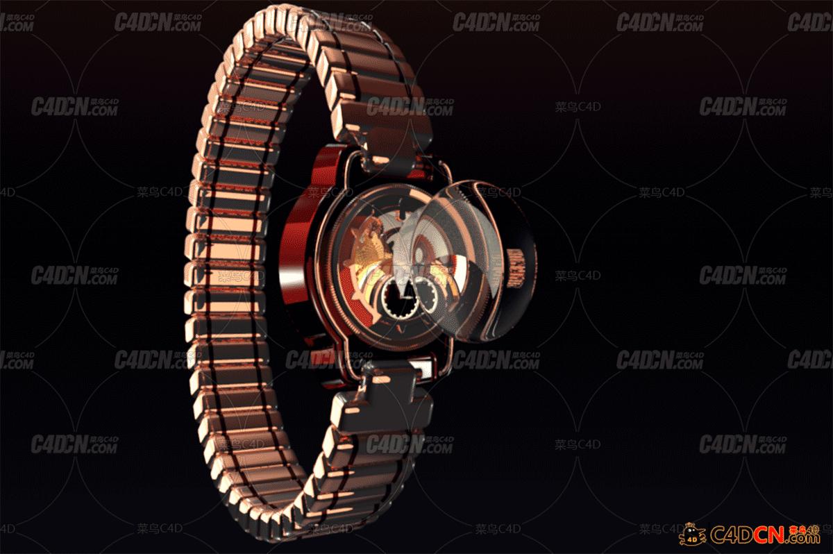 C4D精美手表工程