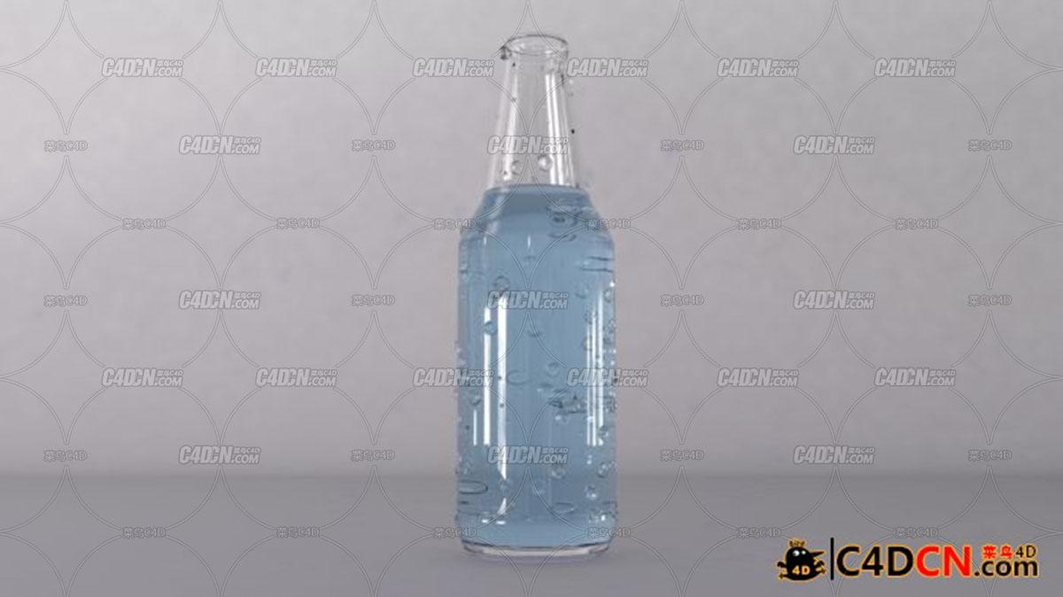 c4d汽水瓶子模型