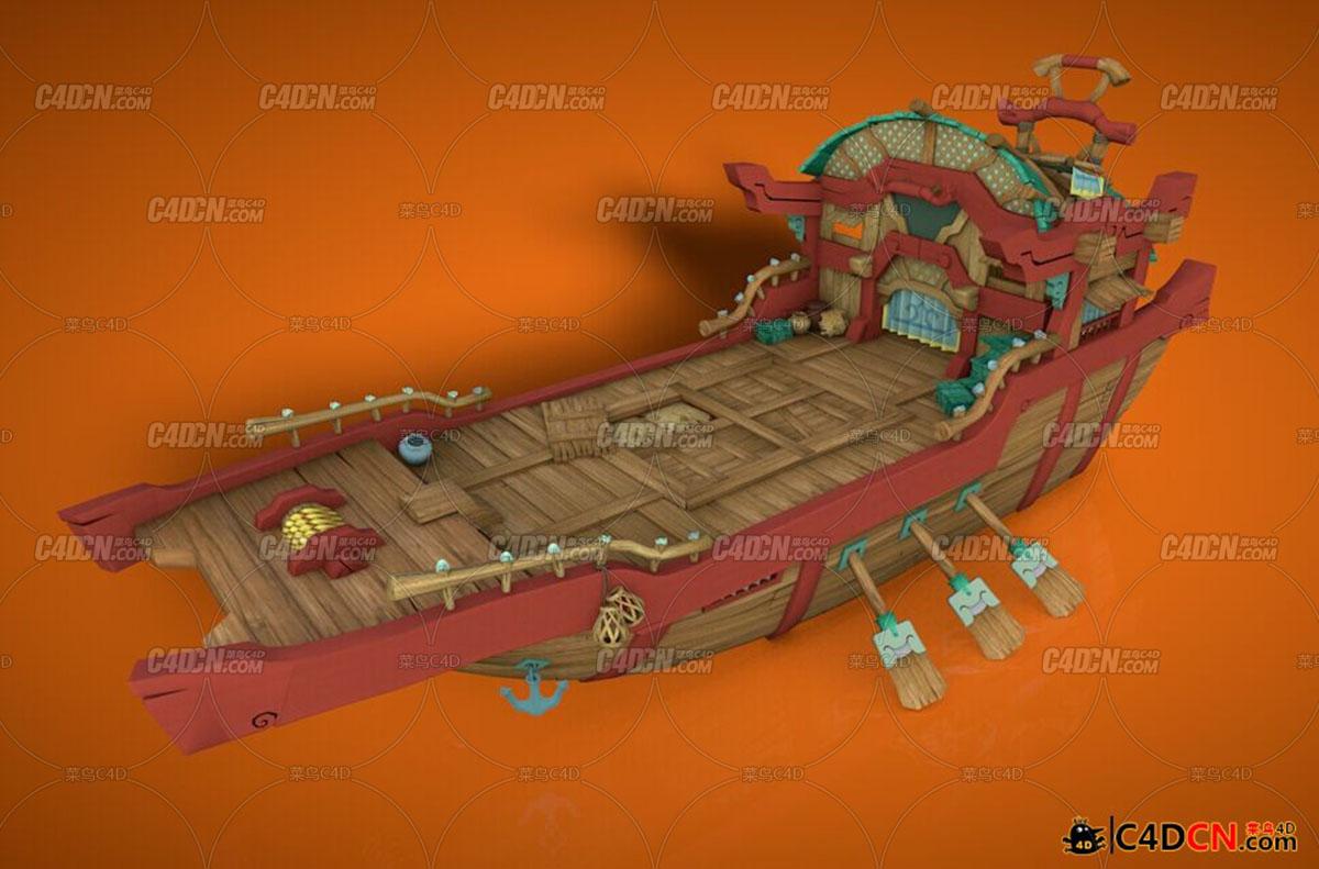 Q版古代船舰模型