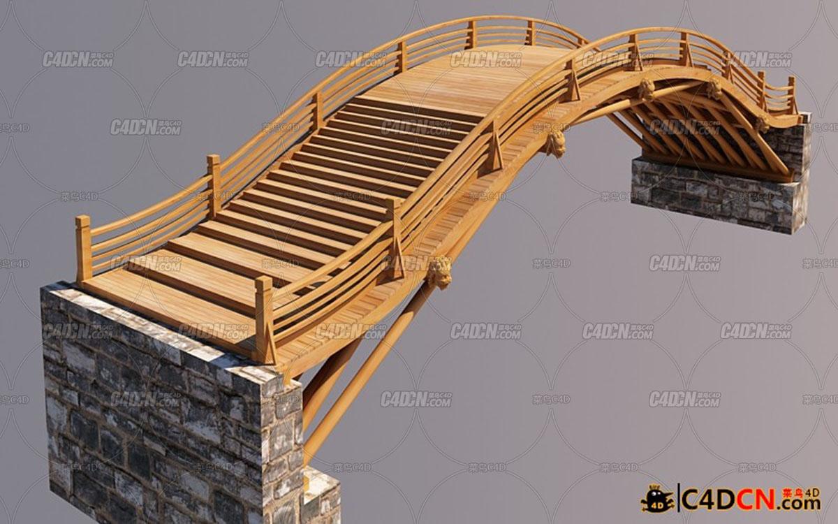 仿古实木桥梁