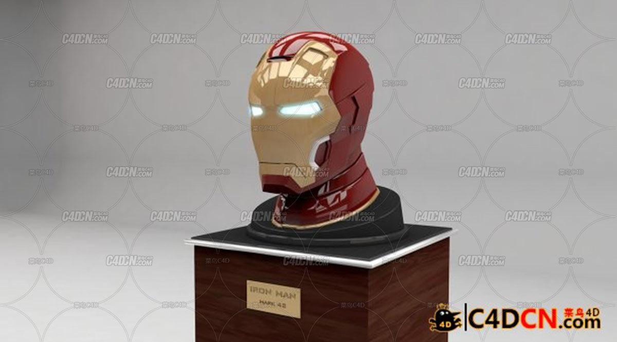 超精细模型钢铁侠MK42头盔