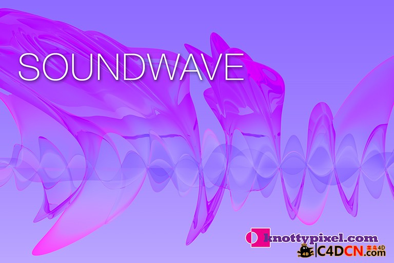 C4D声音波形插件汉化版 KnottyPixel Soundwave v1.17b for cinema 4d R15-R17