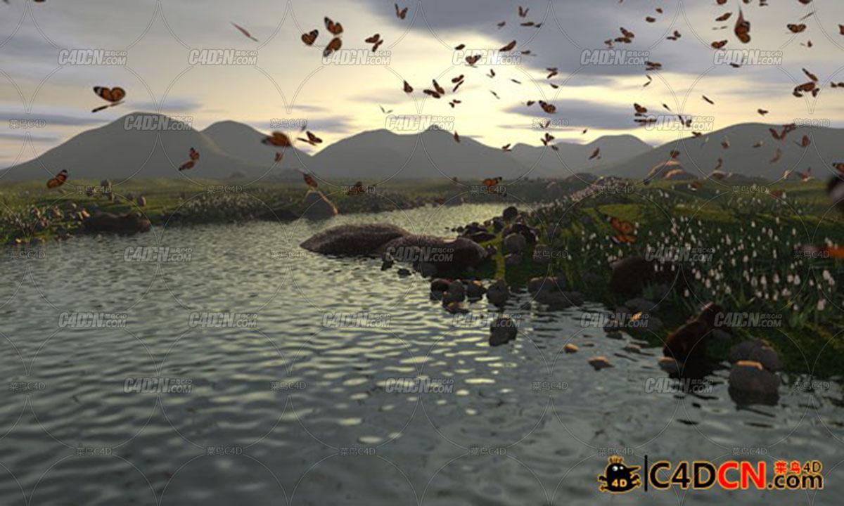 C4D Landscape高级景观场景模型