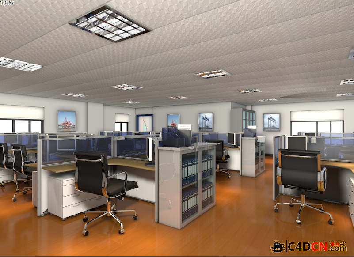办公室整体效果工程