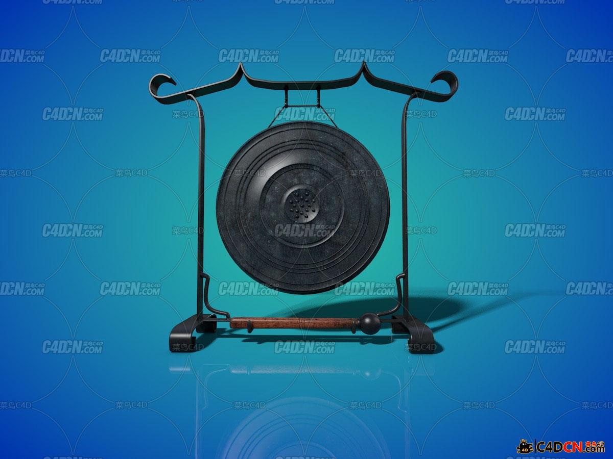 仿古式打击锣鼓模型