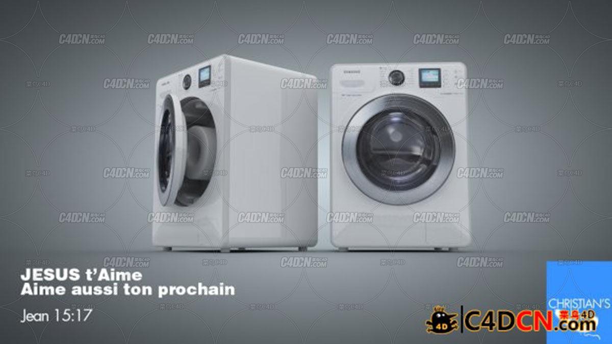 智能滚筒洗衣机模型washing machine samsung smart