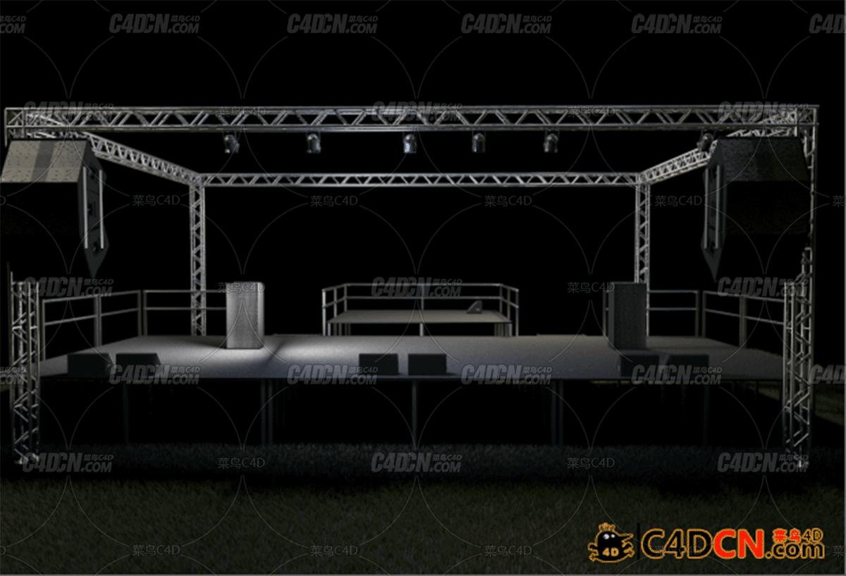 活动舞台场景源文件Concert Venue Stage