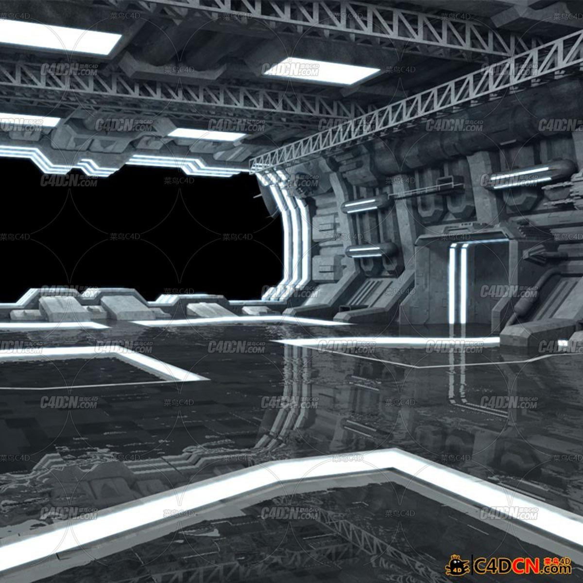 科幻游戲場景-盟軍艦隊機庫 Allied Fleets Hangar