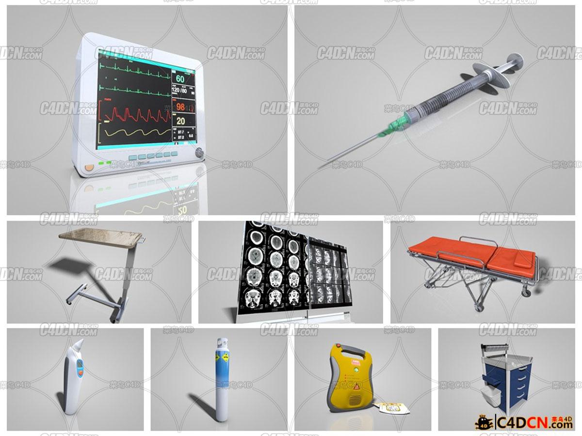 C4D 21套医疗模型合集包