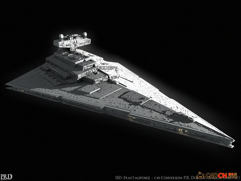 帝国歼星舰模型Imperial Star Destroyer - Imperator 3d model