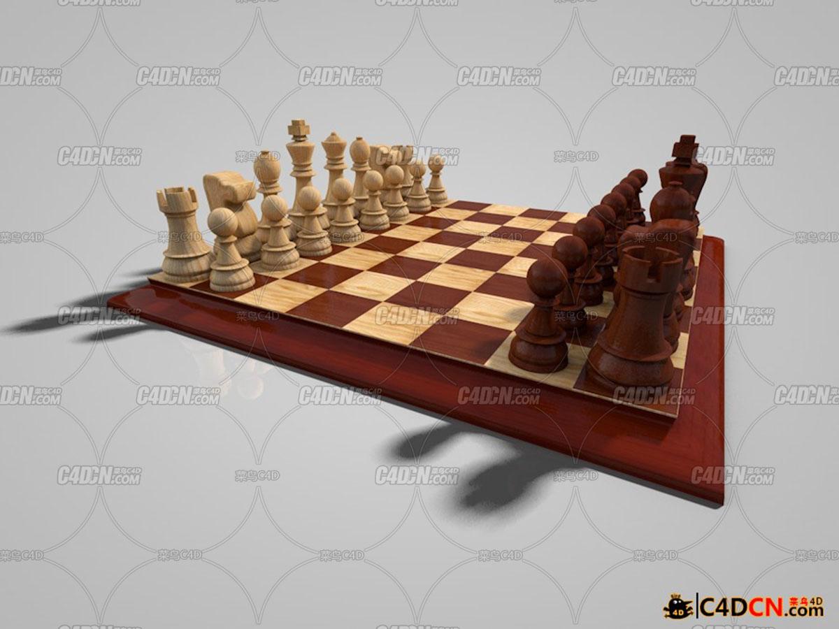 国际象棋模型Chess Set 3d model