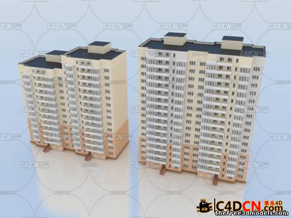 小区楼房模型Building 3d model