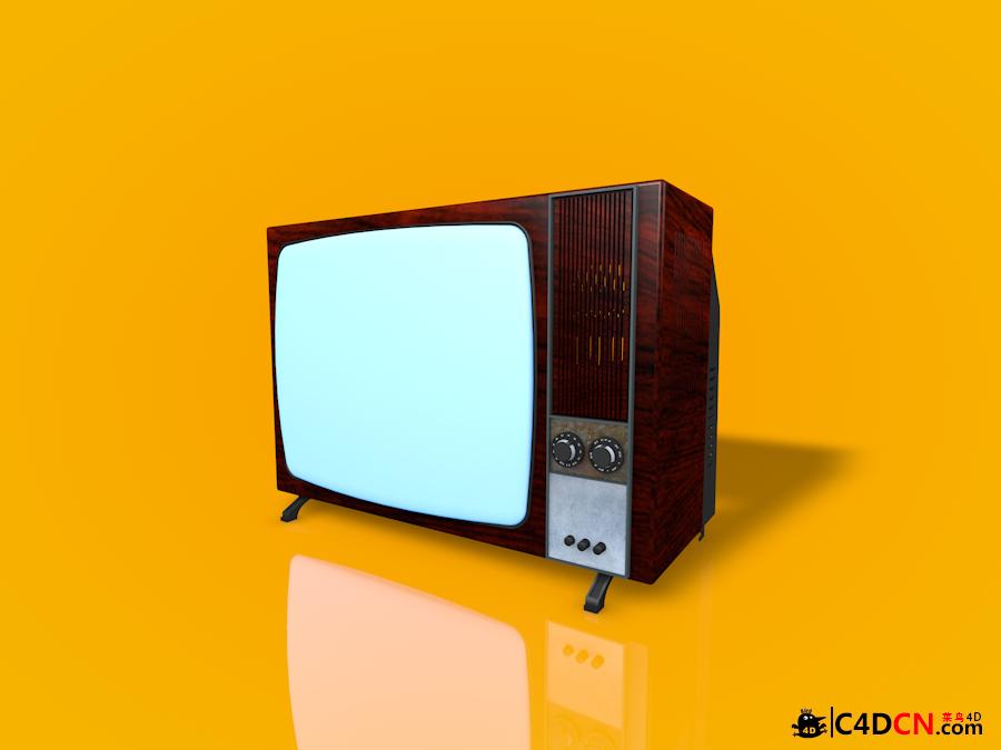旧款电视机模型TV set old 3d model