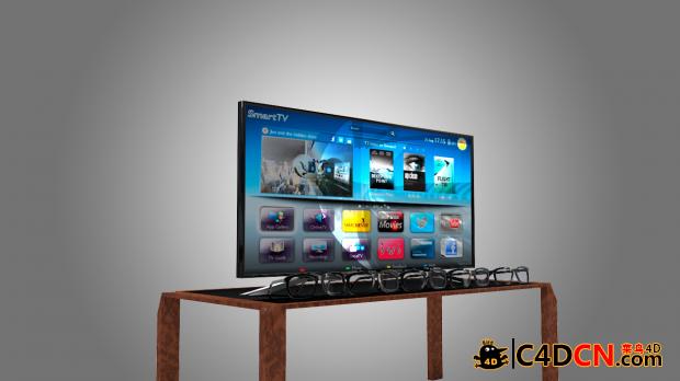 索尼智能电视机模型Sony Smart TV 4K 3d model