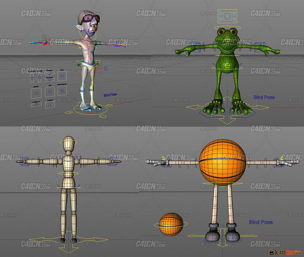 Cactus3D高级绑定系统示范工程4个