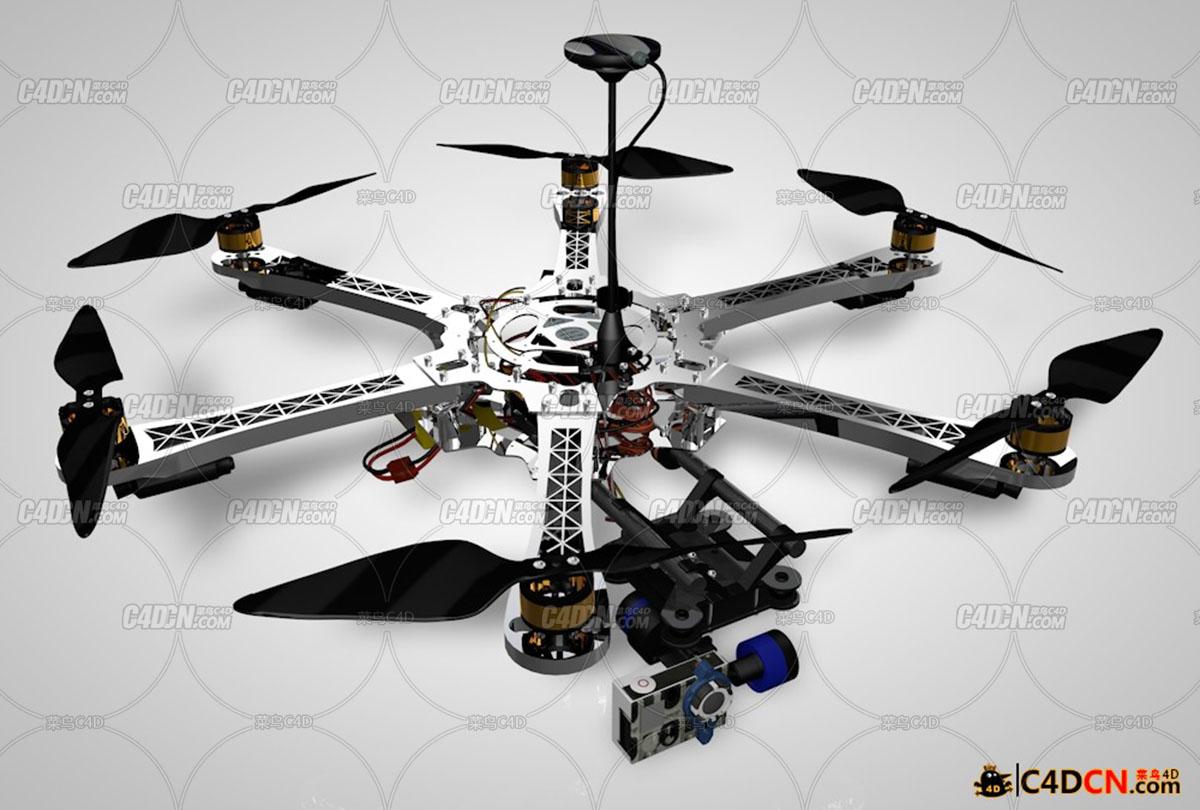 6轴无人机飞行器模型