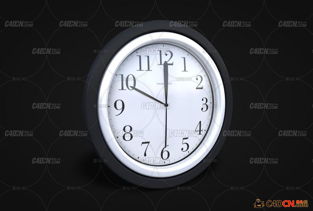 墙挂钟式表模型Wall Clock