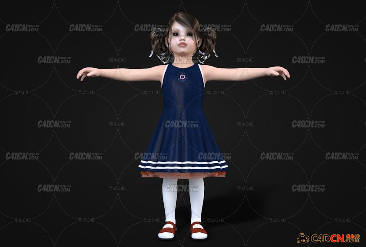 小妹妹小女孩模型Little girl