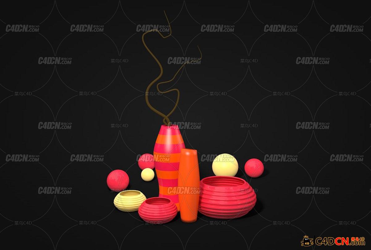 花瓶容器装饰品模型