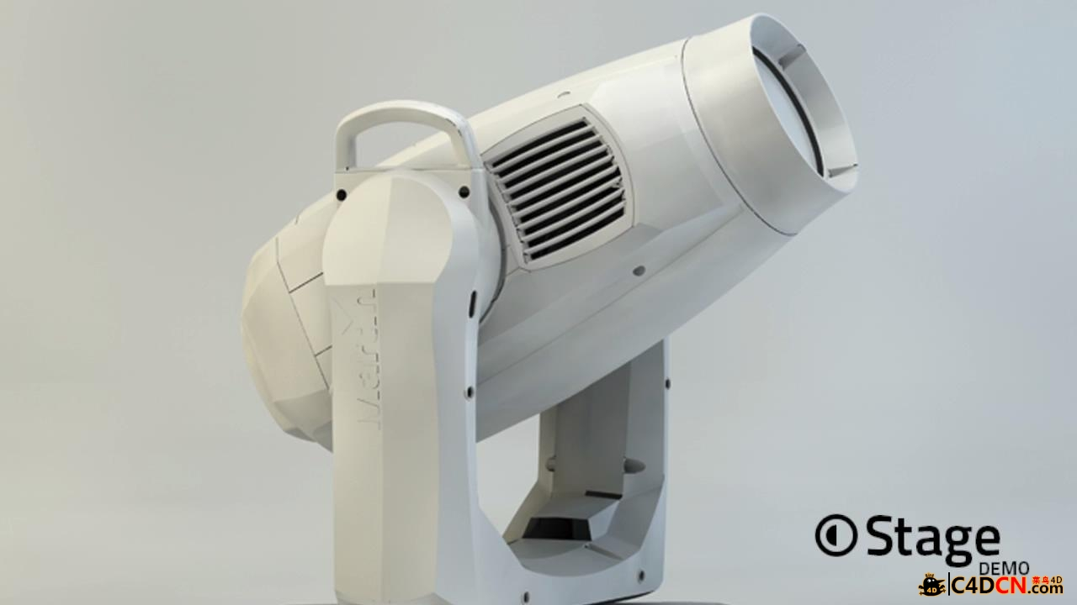 C4D舞台射灯插件汉化版hantMade Stage v1.1 rev233 DevLic R17 MUS3