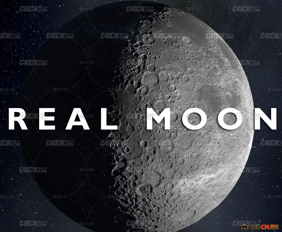 C4D预设 真实月球汉化版c4depot real moon