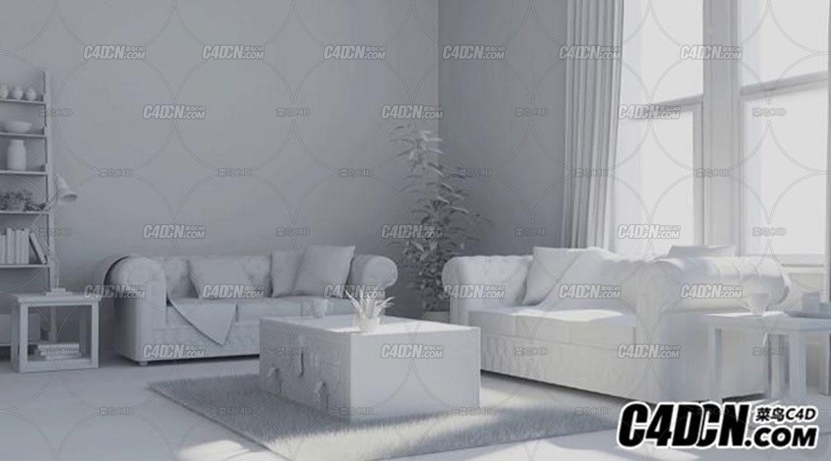 C4D室内家居物品建模教程