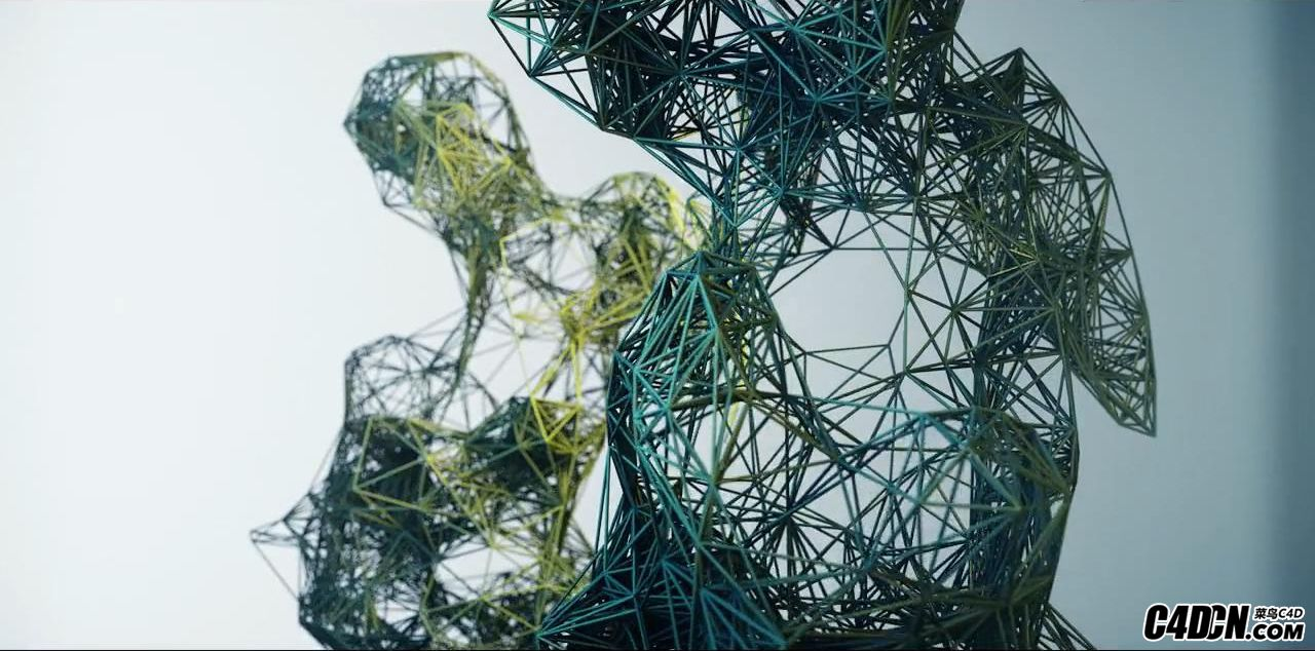 C4D X-Particles插件创建几何丛林动画教程