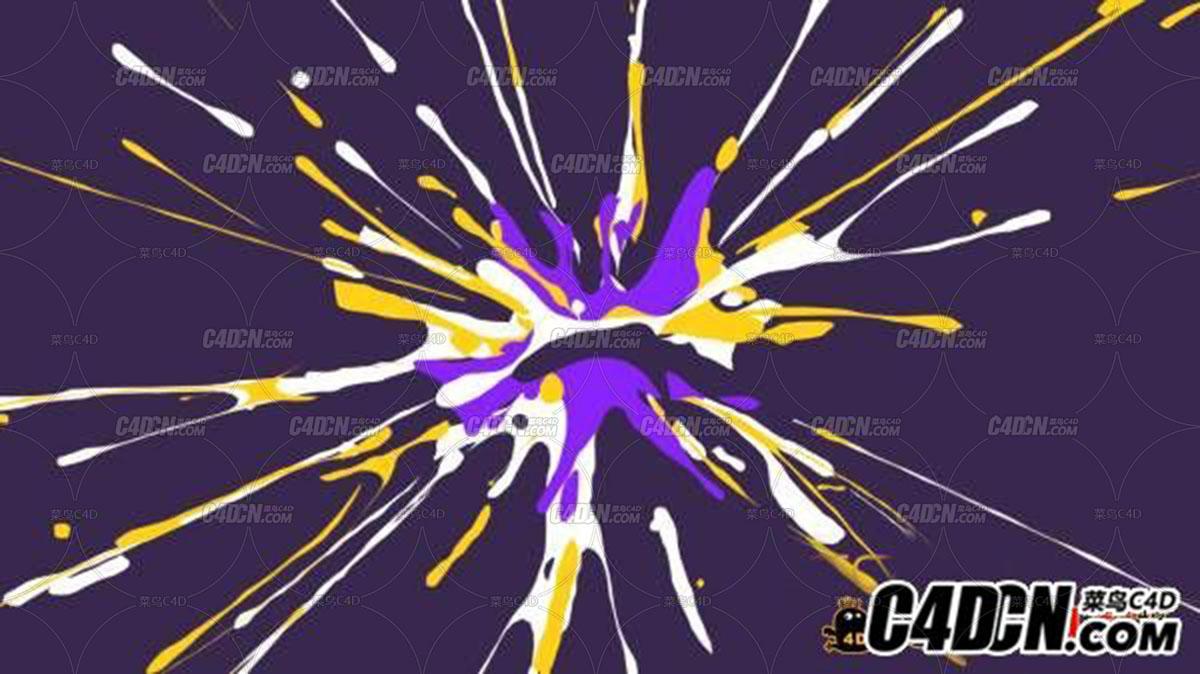 C4D制作二维爆炸效果 Mattrunks – 2D Splash Fxs With X-particles