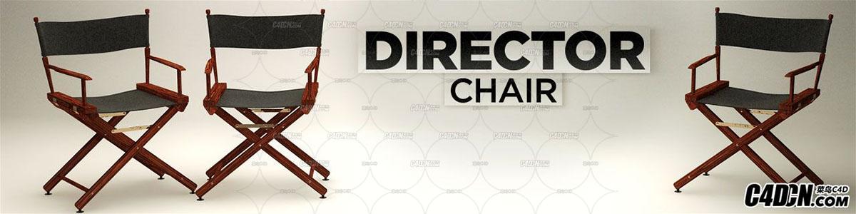 C4D导演椅子模型 Director Chair
