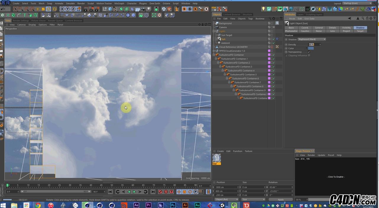 【搬运】C4D+TFD制作真实云层教程