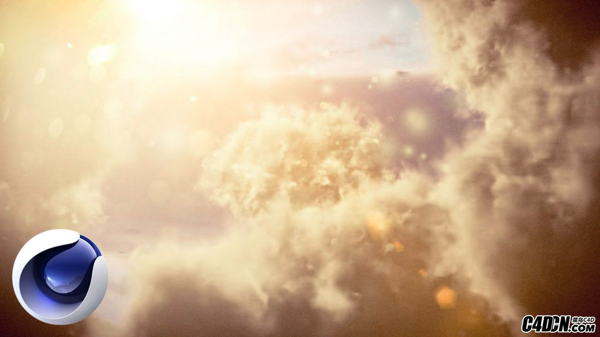 C4D TurbulenceFD插件制作漂亮的云雾拨开教程