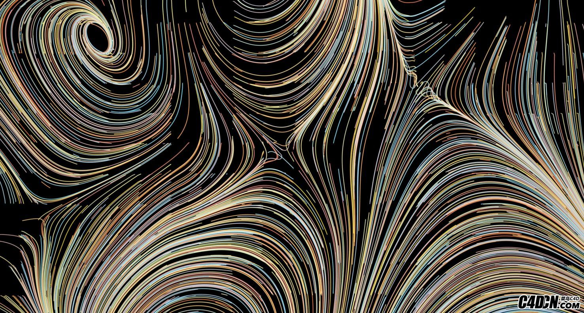 C4D X-Particles粒子插件制作漂亮的线条丘陵结构教程