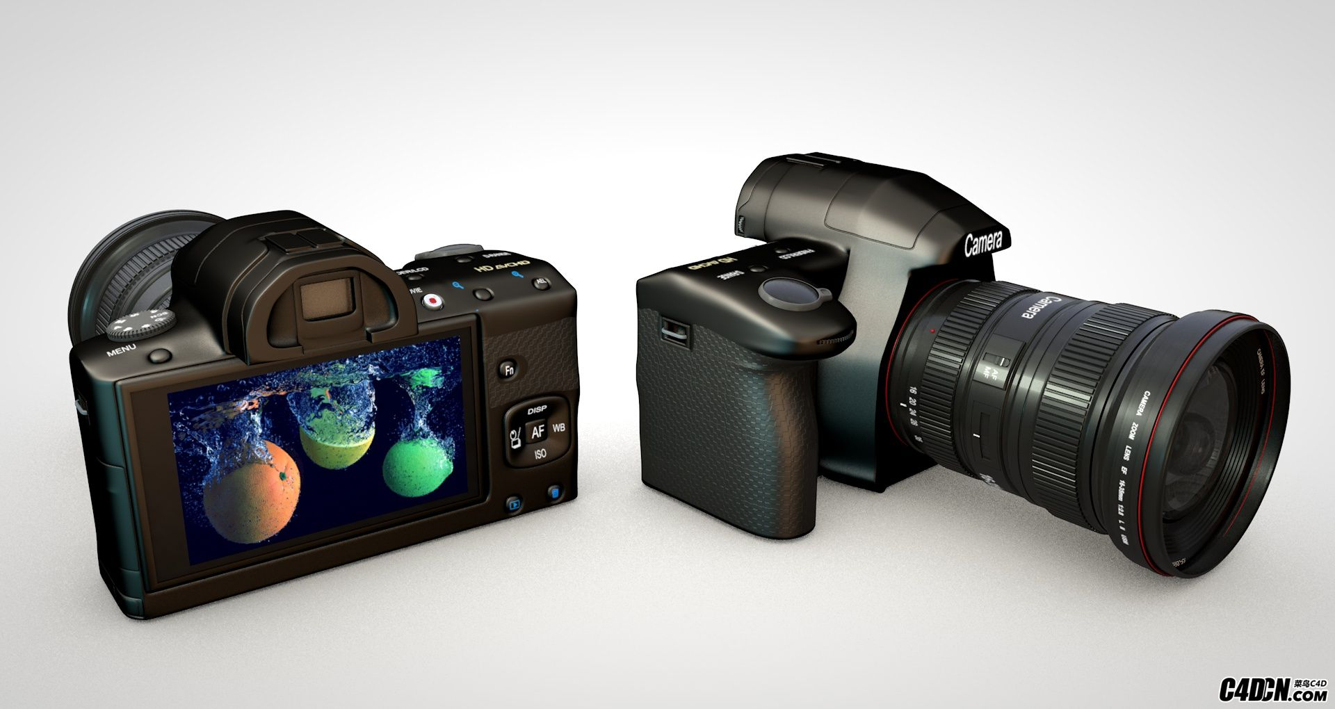 C4D佳能单反相机模型 Philipp Bauer Camera