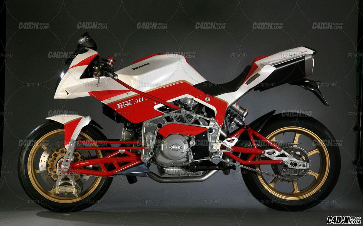 C4D Bimota摩托车模型