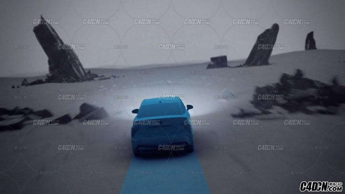关于汽车素材特效,科技感觉的一个视频作品,设计感觉,思路