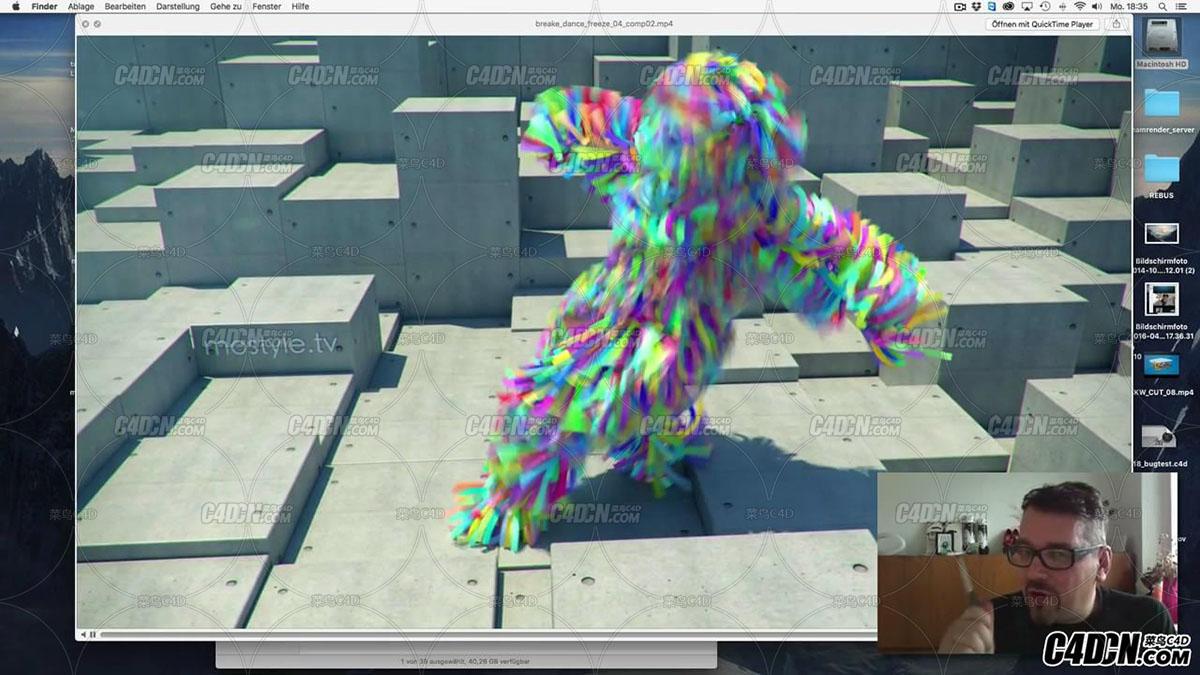 mixamo在线动作库配合C4D导入制作跳舞的纸条人教程