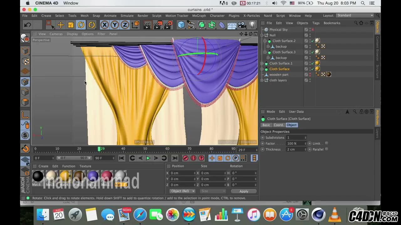 how to make curtain in c4d (silent tip)      _20160922220818.JPG